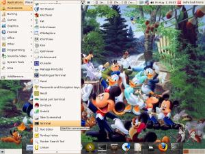 Menu terminal Linux Ubuntu 8.04