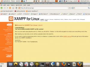 xampp web server yang sukses diinstall